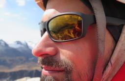 Paisagem refletida nos óculos de Pedro Foto de Paula Kapp