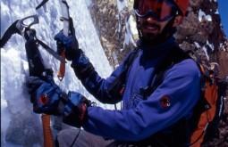 Pedro escalando a face sul do Tronador m Argentina