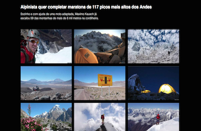 Alpinista quer completar maratona de  picos mais altos dos Andes BBC Brasil  copy