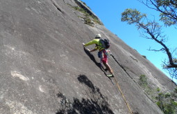 Giving a rock climbing course in Rio