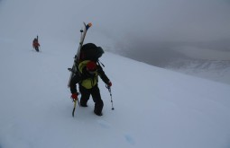 Back country skiing in Patagonia