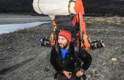 Carrying huge pack in Patagonia