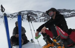 Skiing in the Andes